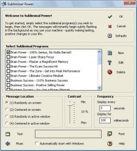 Subliminal Power Screenshot